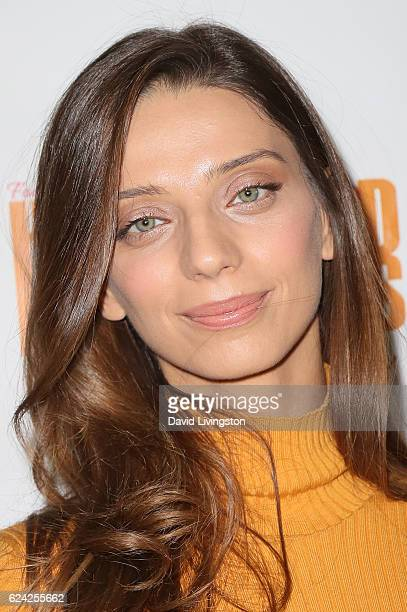 Actress Angela Sarafyan arrives at the 14th Annual Lupus LA Hollywood Bag Ladies Luncheon at The Beverly Hilton Hotel on November 18 2016 in Beverly...