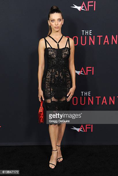 Actress Angela Sarafyan arrives at the premiere of Warner Bros Pictures' 'The Accountant' at TCL Chinese Theatre on October 10 2016 in Hollywood...
