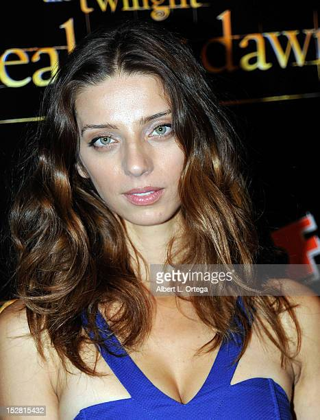 Actress Angela Sarafyan arrives for Summit Entertainment's The Twilight Saga Breaking Dawn PART 2 VIP ComicCon Celebration Arrivals held at The Hard...