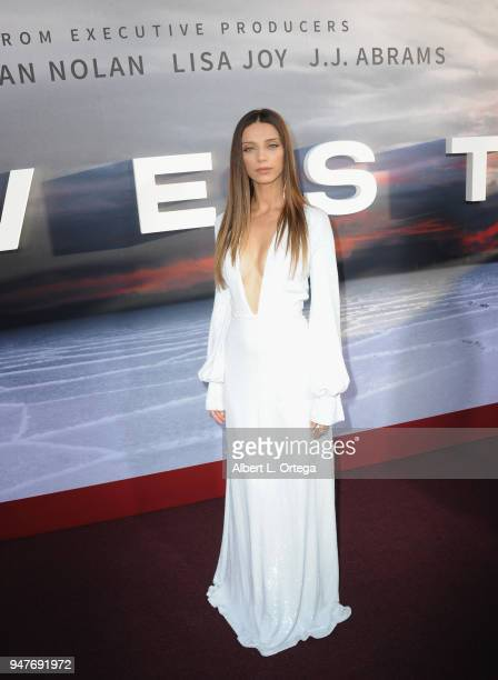 Actress Angela Sarafyan arrives for the Premiere Of HBO's 'Westworld' Season 2 held at The Cinerama Dome on April 16 2018 in Los Angeles California