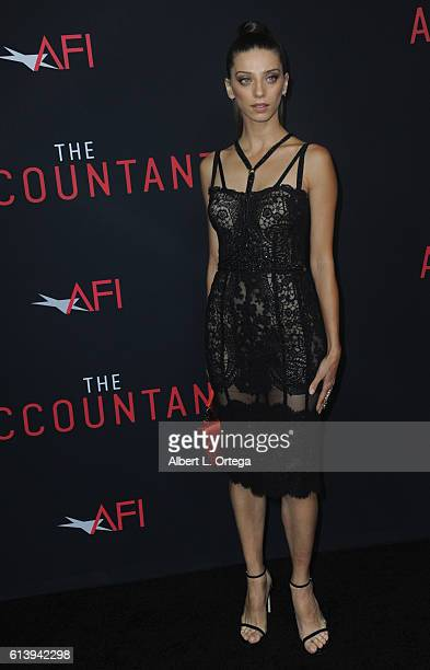 Actress Angela Sarafyan arrives for the Premiere Of Warner Bros Pictures' The Accountant held at TCL Chinese Theatre on October 10 2016 in Hollywood...