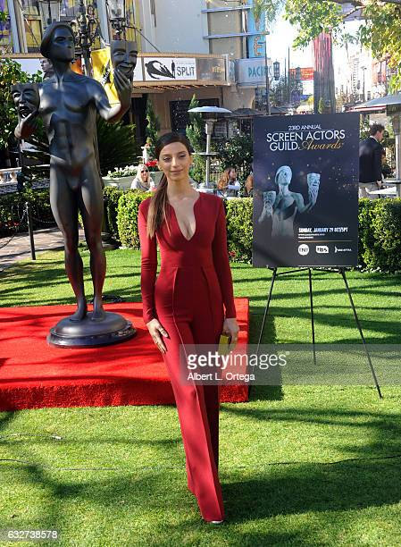 Actress Angela Sarafyan at the 23rd Annual Screen Actors Guild Awards Greet The Actor held at The Grove on January 25 2017 in Los Angeles California