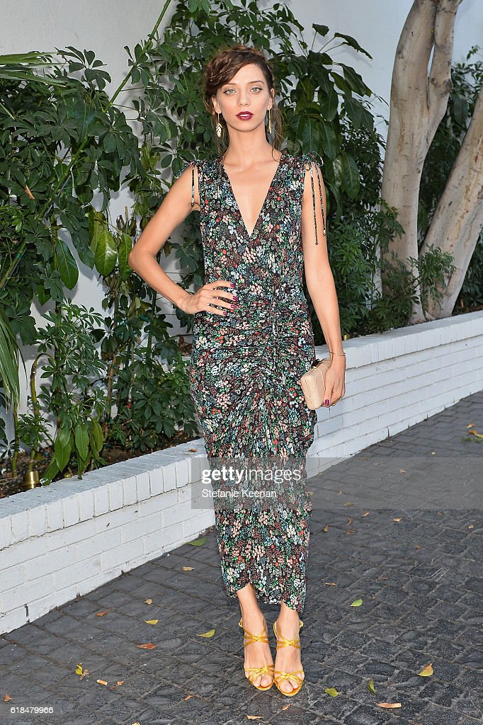 Actress Angela Sarafyan at the CFDA/Vogue Fashion Fund Show and Tea presented by kate spade new york at Chateau Marmont on October 26, 2016 in Los Angeles, California.