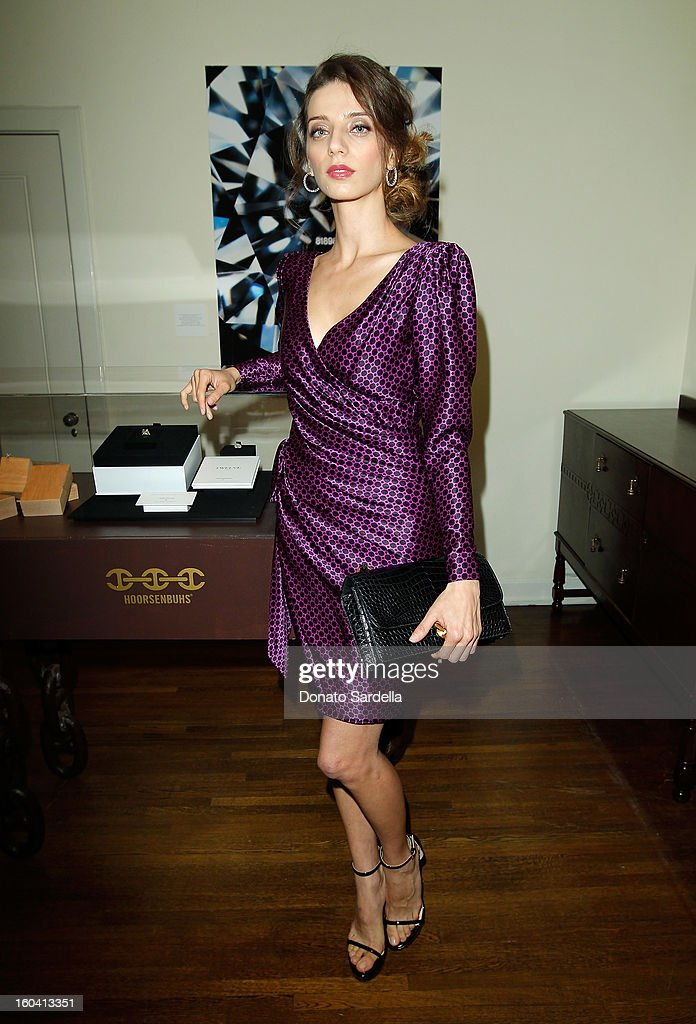 Actress Angela Sarafyan attends Hoorsenbuhs for Forevermark Collection cocktail party at Chateau Marmont on January 30, 2013 in Los Angeles, California.
