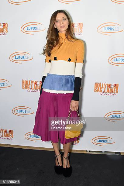 Actress Angela Sarafyan attends The 14th Annual Lupus LA Hollywood Bag Ladies Luncheon at The Beverly Hilton Hotel on November 18 2016 in Beverly...