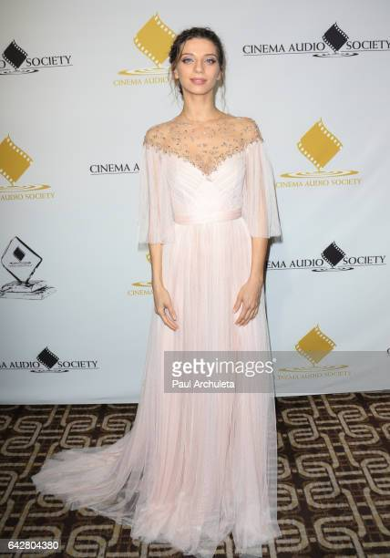 Actress Angela Sarafyan attends the 53rd Annual Cinema Audio Society Awards at Omni Los Angeles Hotel at California Plaza on February 18 2017 in Los...