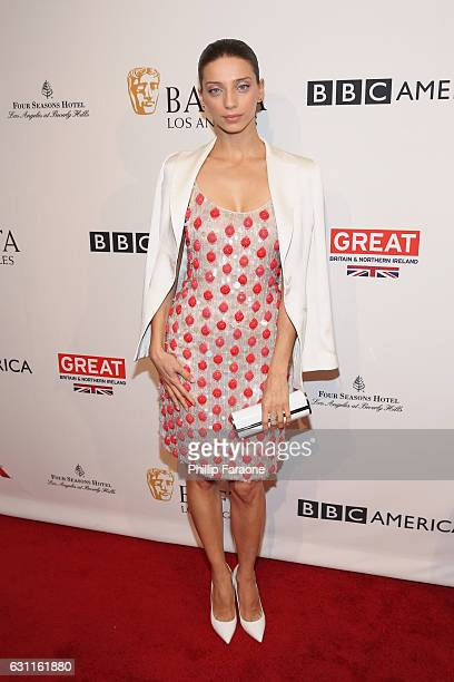Actress Angela Sarafyan attends The BAFTA Tea Party at Four Seasons Hotel Los Angeles at Beverly Hills on January 7 2017 in Los Angeles California