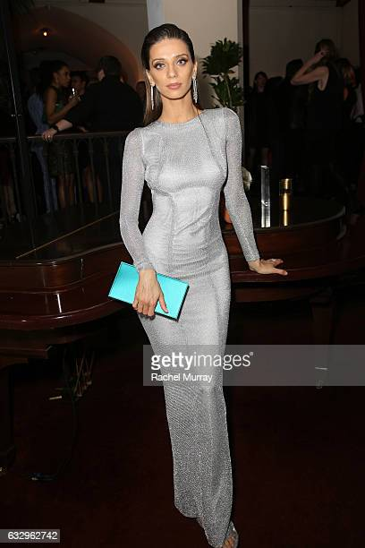 Actress Angela Sarafyan attends the Entertainment Weekly Celebration of SAG Award Nominees sponsored by Maybelline New York at Chateau Marmont on...