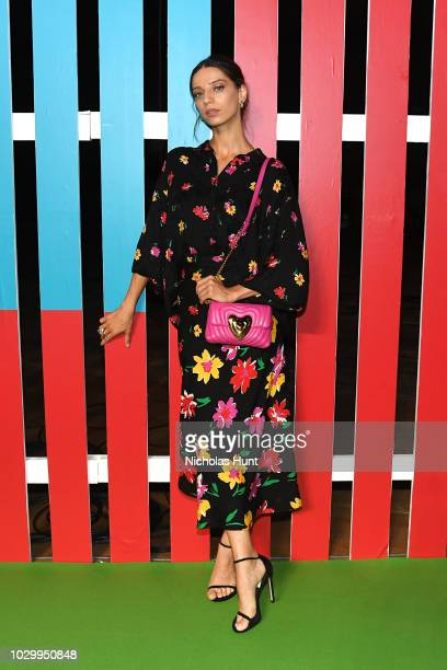 Actress Angela Sarafyan attends the Escada Front Row during New York Fashion Week on September 9 2018 in New York City