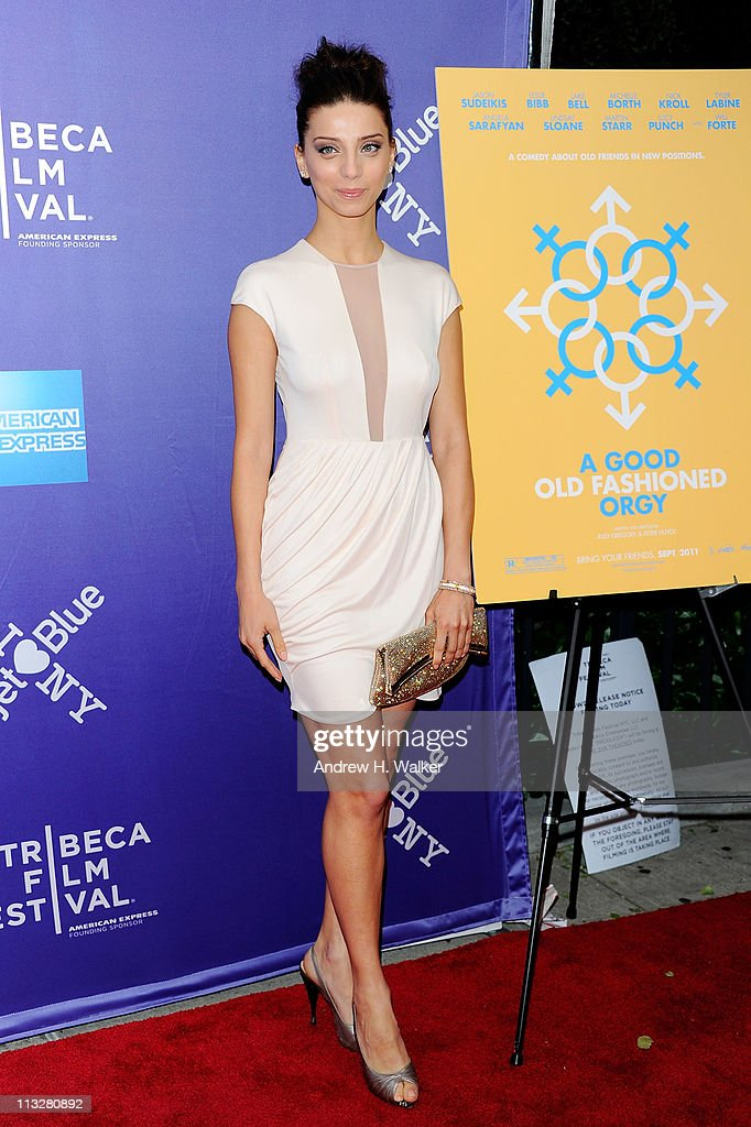 Actress Angela Sarafyan attends the premiere of 'A Good Old Fashioned Orgy' during the 2011 Tribeca Film Festival at SVA Theater on April 29, 2011 in New York City.