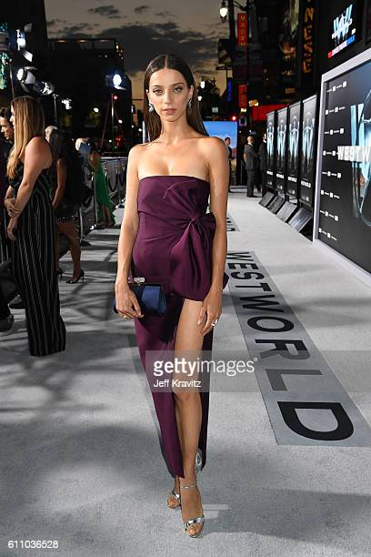 Actress Angela Sarafyan attends the premiere of HBO's Westworld at TCL Chinese Theatre on September 28 2016 in Hollywood California