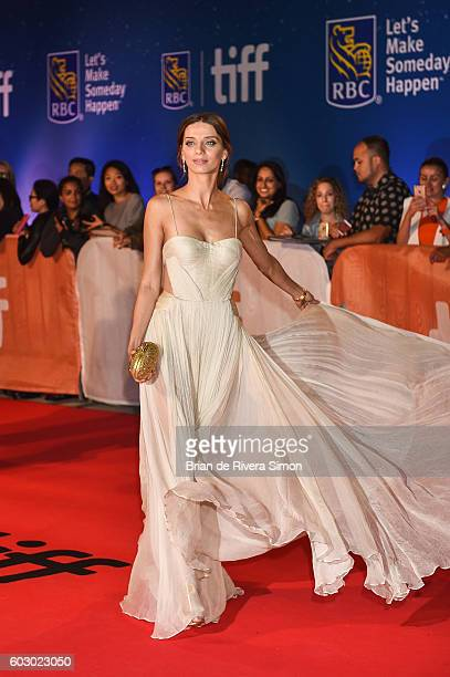Actress Angela Sarafyan attends The Promise premiere during 2016 Toronto International Film Festival at Roy Thomson Hall on September 11 2016 in...