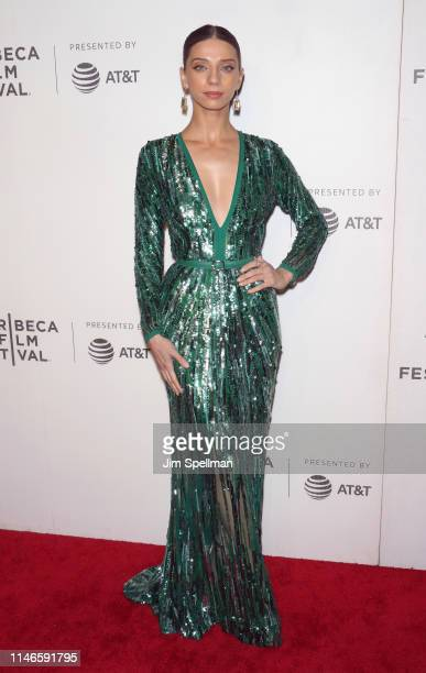 Actress Angela Sarafyan attends the screening of Extremely Wicked Shockingly Evil and Vile during the 2019 Tribeca Film Festival at BMCC Tribeca PAC...