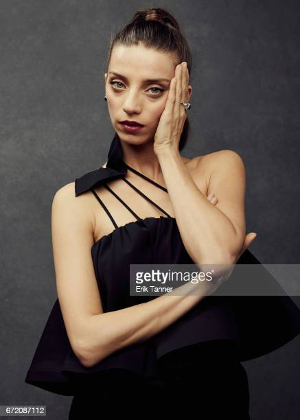 Actress Angela Sarafyan from 'Intent To Destroy' poses at the 2017 Tribeca Film Festival portrait studio on on April 23 2017 in New York City