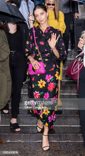 Actress Angela Sarafyan is seen leaving the Escada SS19 fashion show during New York Fashion Week at Park Avenue Armory on September 9 2018 in New...