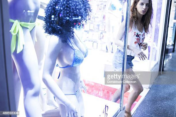 Actress Angela Sarafyan poses for a portrait on Hollywood Boulevard on August 28 2015 in Los Angeles California