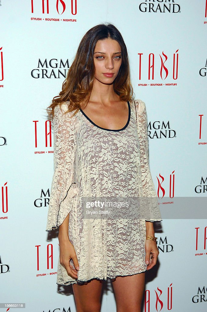 Actress Angela Sarafyn arrives at the Tabu Ultra Lounge at the MGM Grand Hotel/Casino on November 17, 2012 in Las Vegas, Nevada.