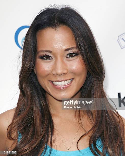 Actress Angela Sun arrives at the 1st annual My Ocean Planet fundraiser benefitting project Kaisei at The Malibu Lumber Yard on June 5 2010 in Malibu...