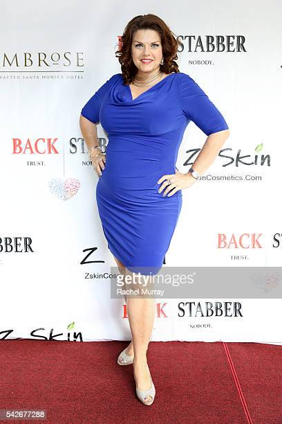 Actress Angela Tesch attends the red carpet premiere for the new Amazon series 'Back Stabber' at the Ambrose Boutique Hotel on June 23 2016 in Santa...