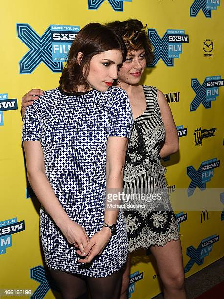 Actress Angela Trimbur and actress Alia Shawkat attend the premiere of The Final Girls during the 2015 SXSW Music Film Interactive Festival at The...