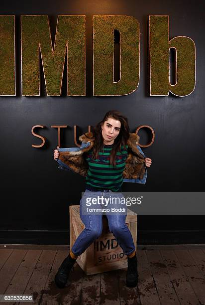 Actress Angela Trimbur of XX attends The IMDb Studio featuring the Filmmaker Discovery Lounge presented by Amazon Video Direct Day Four during The...