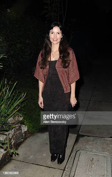 Actress Angela Watson arrives at Golden Globe and SAG nominee Jonah Hill's private celebrity home gourmet pizza party hosted by Renee Taylor and Joe...