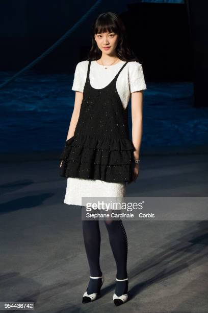 Actress Angela Yuen attends the Chanel Cruise 2018/2019 Collection at Le Grand Palais on May 3 2018 in Paris France