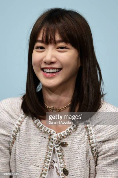 Actress Angela Yuen attends the 'In Conversation The White Girl' during The Singapore International Film Festival at the ArtScience Museum on...