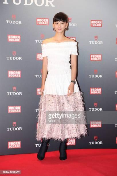 Actress Angela Yuen attends Tudor event on November 14 2018 in Hong Kong China