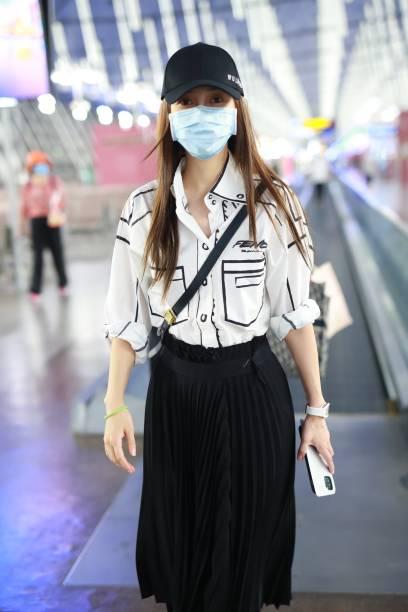 CHN: Angelababy Sightings In Shanghai