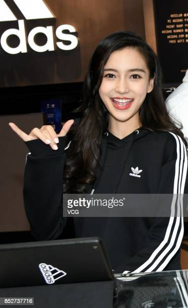 Actress Angelababy attends Adidas activity on September 23 2017 in Shanghai China