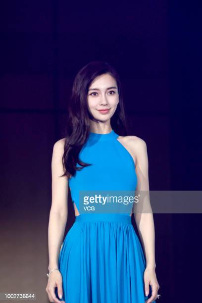 Actress Angelababy attends the BioE event on July 18 2018 in Shanghai China