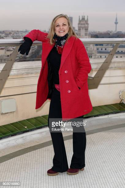 Actress Angeles Martin attends the 'Hablar por hablar' theatre play press conference at Circulo de Bellas Artes on January 9 2018 in Madrid Spain