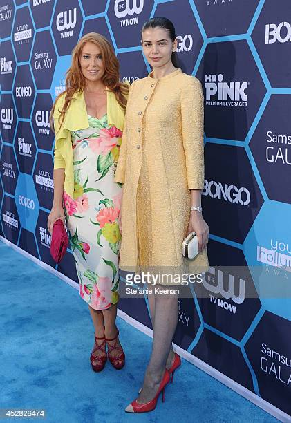 Actress Angelica Bridges and Mr Pink executive Monica Gabor attend the 2014 Young Hollywood Awards brought to you by Samsung Galaxy at The Wiltern on...
