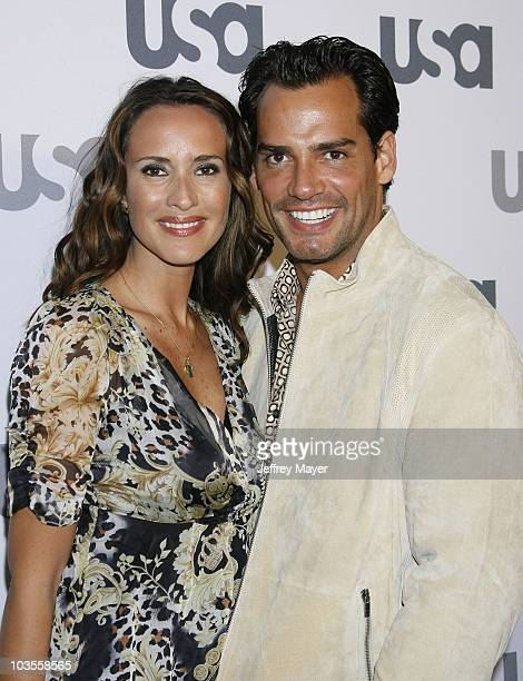 Actress Angelica Castro and Actor Cristian De La Fuente arrive at 'Characters Welcome' USA Network celebrates it's Lineup of Stars on April 3 2008 at...