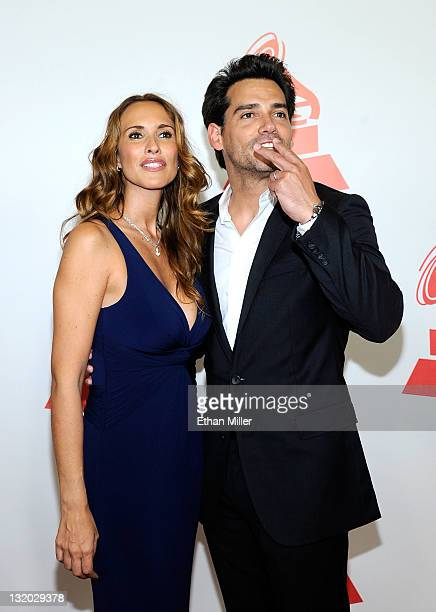 Actress Angelica Castro and Actor Cristian de la Fuente arrive at the 2011 Latin Recording Academy's Person of the Year honoring Shakira at Mandalay...