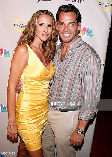 Actress Angelica Castro and actor Cristian de la Fuente arrive at the NBC Universal 2008 Press Tour AllStar Party held at the Beverly Hilton Hotel on...