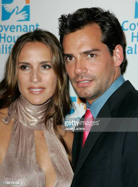 Actress Angelica Castro and actor Cristian de la Fuente attend Covenant House California's 9th Annual Awards Gala at the Beverly Hilton on May 9 In...