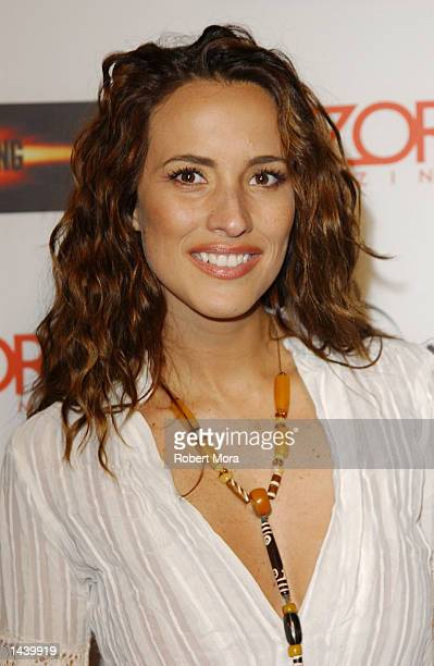 Actress Angelica Castro attends Universal Studio's 'The Scorpion King' DVD VHS Launch Party at Virgin Records' Razor Lounge on September 30 2002 in...