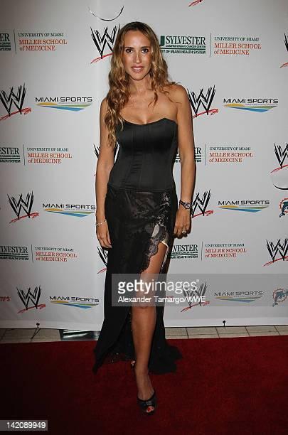 Actress Angelica Castro attends WrestleMania Premiere Party A Celebration of Miami Art and Fashion on March 29 2012 in Miami Beach Florida