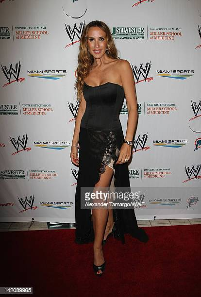 Actress Angelica Castro attends WrestleMania Premiere Party A Celebration of Miami Art and Fashion on March 29 2012 in Miami Beach Florida