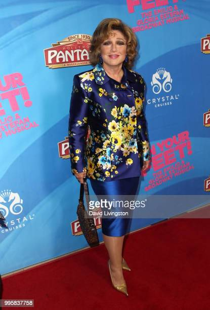 Actress Angelica Maria attends a celebration of the Los Angeles engagement of 'On Your Feet' the Emilio and Gloria Estefan Broadway musical at the...