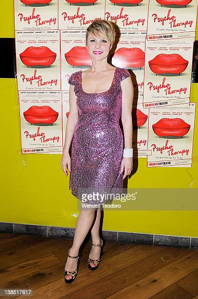 Actress Angelica Page attends the 'Psycho Therapy' opening night at the Cherry Lane Theatre on February 7 2012 in New York City