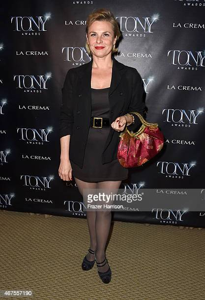 Actress Angelica Page attends The Tony Awards celebration of Broadway in Hollywood at Sunset Towers on March 25 2015 in West Hollywood California