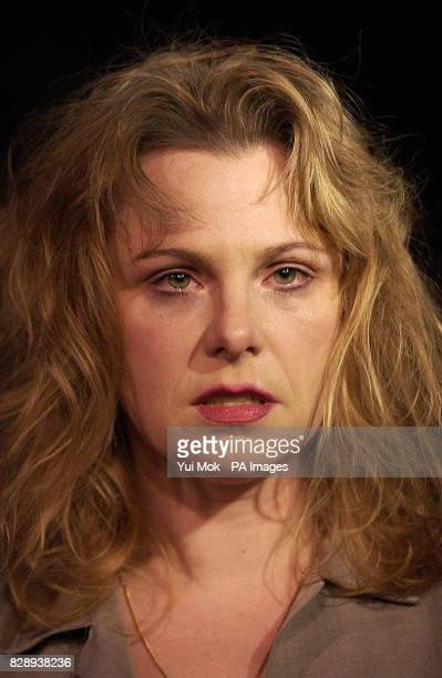 Actress Angelica Torn as the poet Sylvia Plath during a photocall for the play 'Edge' at the Kings Head Theatre in Islington north London Edge...