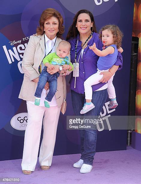 Actress Angelica Vale and mom actress Angelica Maria arrive at the Los Angeles premiere of Disney/Pixar's 'Inside Out' at the El Capitan Theatre on...