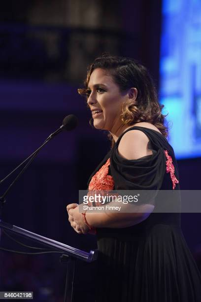 Actress Angelica Vale attends the National Hispanic Foundation for the Arts 2017 Noche de Gala at The Mayflower Hotel on September 11 2017 in...