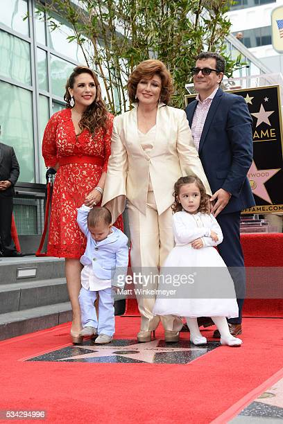 Actress Angelica Vale Daniel Padron singer Angelica Maria Angelica Padron and Otto Padron attend a ceremony honoring Angelica Maria with a Star on...