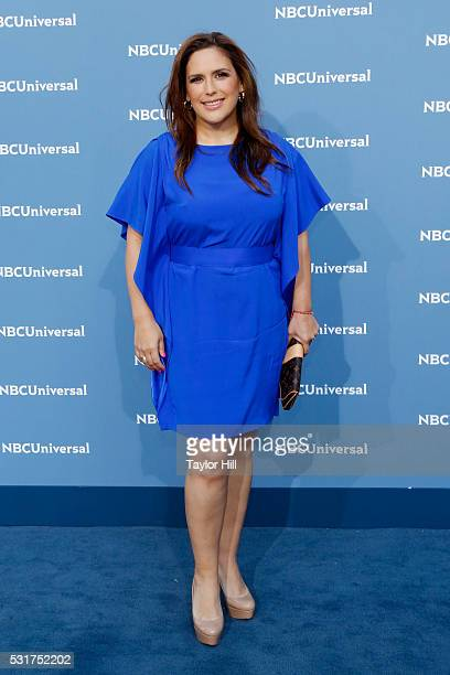 Actress Angelica Vale of 'La Fan' on Telemundo attends the NBCUniversal 2016 Upfront on May 16 2016 in New York New York