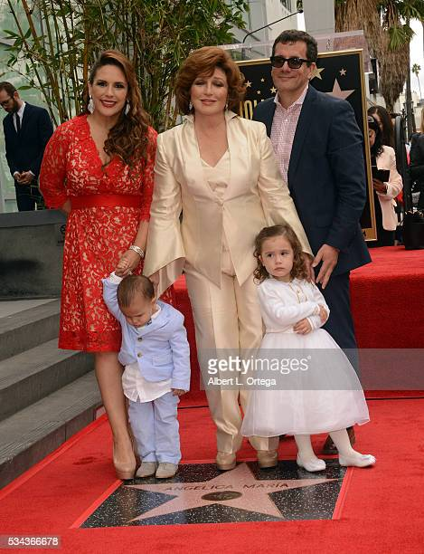 Actress Angelica Vale singer/actress Angelica Mariagrandaughter Angelica Padron and grandson Otto Padron at the Angelica Maria Star ceremony held On...